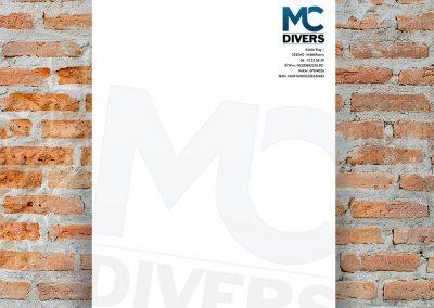 Briefpapier en logo MC Divers