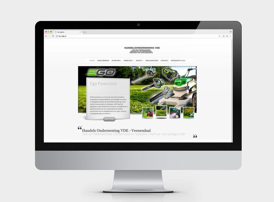 Website voor Handelsonderneming VDE